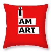 I Am Art Stripes- Design By Linda Woods Throw Pillow