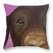 I Am Being Really Good Throw Pillow