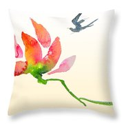 i Am Flying To You Throw Pillow