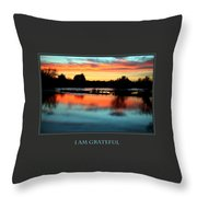 I Am Grateful Throw Pillow