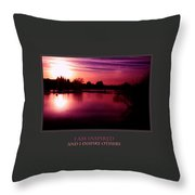 I Am Inspired And I Inspire Others Throw Pillow