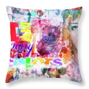 I Am Many Colors Throw Pillow