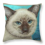 I Am Siamese If You Please Throw Pillow