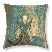I Am Siamese In Teal Throw Pillow