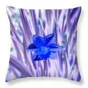 I Am So Blue Throw Pillow