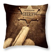 I Am The Law Throw Pillow