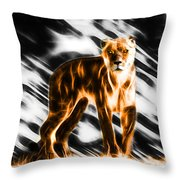 I Am The Lioness Throw Pillow