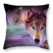 I Am Wolf Throw Pillow