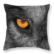 I Am Wolf Throw Pillow