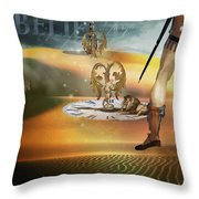 I Believe In Fairy Tales Throw Pillow