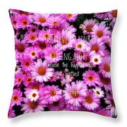 I Believe In Pink Daisies Throw Pillow