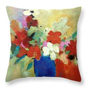 I Believe In Red Throw Pillow