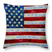 I Believe Throw Pillow by Patti Schermerhorn
