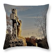 I Bring All Of My Mourning To The Cross Throw Pillow