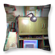 I C The Light - Use Red-cyan 3d Glasses Throw Pillow