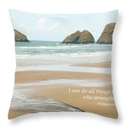 I Can Do All Things Through Christ Throw Pillow