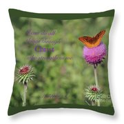 I Can Do All Things Trough Christ Throw Pillow