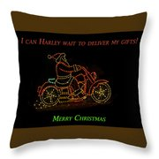 I Can Harley Wait Throw Pillow