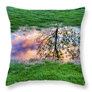 I Can See China - Hole In The Grass Throw Pillow
