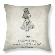 I Can't Go Back To Yesterday Quote Throw Pillow