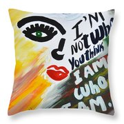 I. D. Throw Pillow