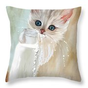 I Didn't Do Nothing Throw Pillow