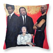 I Don't Smile For Pictures Throw Pillow by Tom Roderick