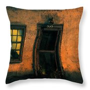 I Dreamed A Black Cat Throw Pillow