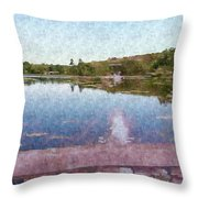 I Dreamed Of A Lake Throw Pillow