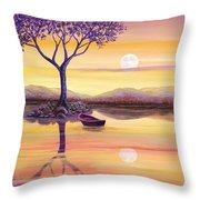 I Dreamt Of The Moon Throw Pillow