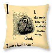 I Throw Pillow by Eikoni Images