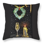 I Feel The Upcoming Holidays Throw Pillow