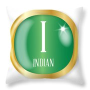 I For Indian Throw Pillow