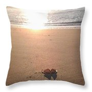I Found Sun Shades By The Sea Shore Throw Pillow