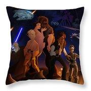I Grew Up With Starwars Throw Pillow
