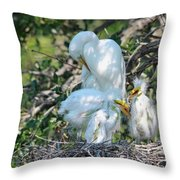 I Have My Hands Full Throw Pillow