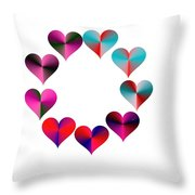 I Heart Rainbows Throw Pillow