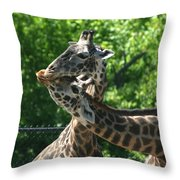 I Just Love Tall Spotted And Handsome Throw Pillow