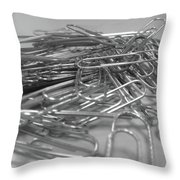 I Just Need One Paper Clip Throw Pillow