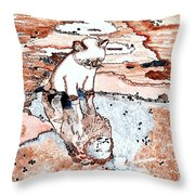 I Knew You Were There     Throw Pillow by Connie Valasco