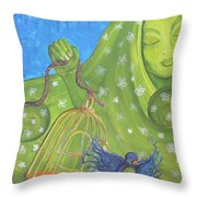 I Know Why The Caged Bird Sings Pro Throw Pillow