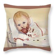 I Like Being A Kid Throw Pillow
