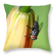 I Like Flowers Throw Pillow