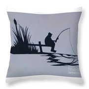 I Like To Fish Throw Pillow