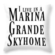 I Live Throw Pillow