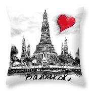 I Love Bangkok Throw Pillow