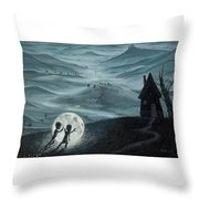 I Love Dreaming Into That Dying Light Throw Pillow