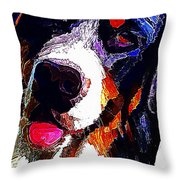 I Love Mountain Dogs Throw Pillow