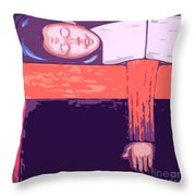 I Love My Bed Throw Pillow