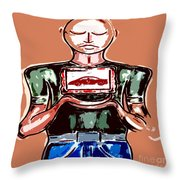 I Love My Car Throw Pillow